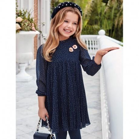 Dívčí skládané šaty Abel & Lula 5570-7 námořnická modrá