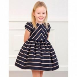 Žakárové šaty pro dívky Abel & Lula 5566-7 námořnická modrá