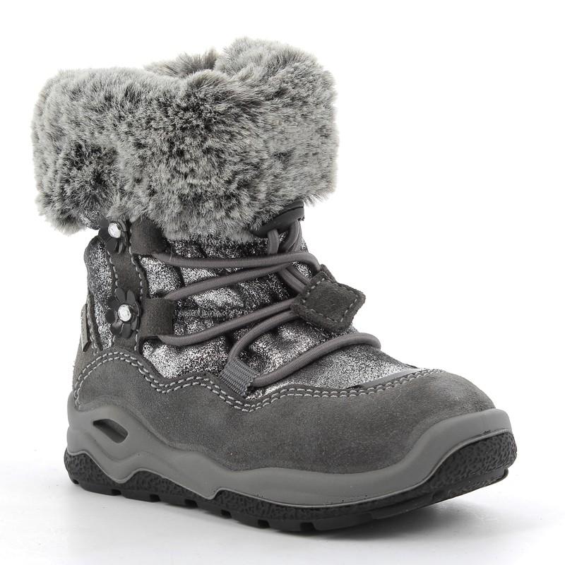 Šedé zimní boty pro dívky Primigi 6362611
