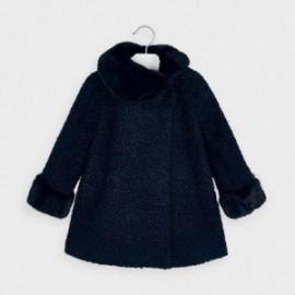 Plátěný kabát pro dívku Mayoral 4411-52 Tmavě modrá