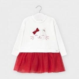 Dívčí kombinované šaty Mayoral 2970-33 Červené