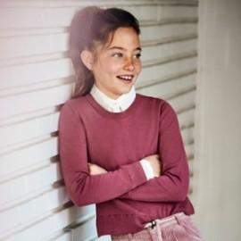 Svetr pro dívky Mayoral 7329-55 růžová barva