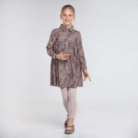 Dívčí leopardí šaty Mayoral 7971-3 růžová barva