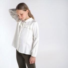 Elegantní dívčí halenka Mayoral 7137-18 bílé barvy