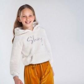 Izolovaná dívčí mikina Mayoral 7403-36 krémové barvy