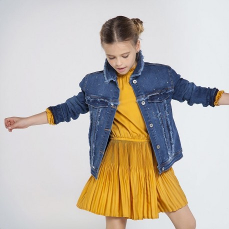 Dívčí džínová bunda Mayoral 7406-21 tmavě modrá barva