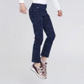 Dívčí panterové kalhoty Mayoral 7540-44 modrá barva