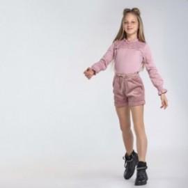 Halenka s krajkou pro dívky Mayoral 7069-10 růžové barvy