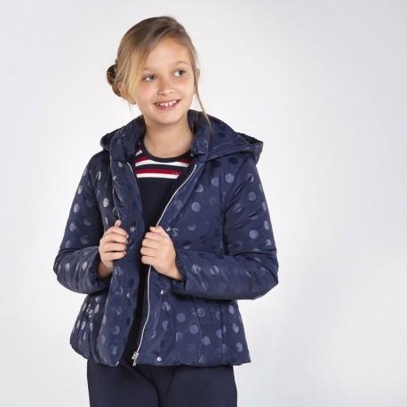 Dívčí zimní bunda Mayoral 7417-53 námořnická modrá barva