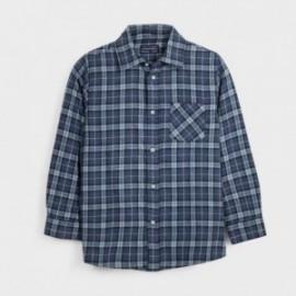 Kostkovaná košile chlapecký Mayoral 7128-52 modrá barva