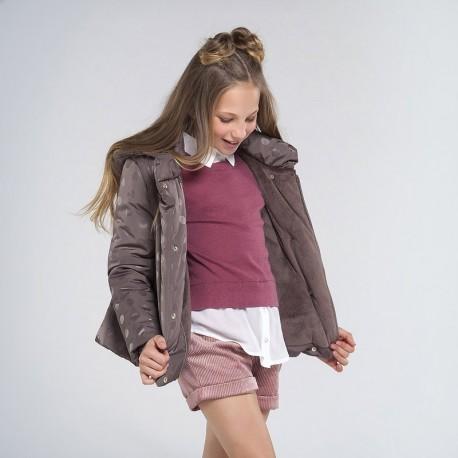 Zimní bunda pro dívky Mayoral 7417-54 béžová barva