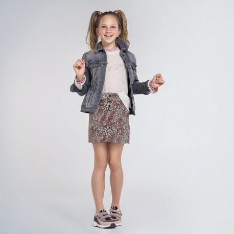 Dívčí bunda Mayoral 7406-22 šedá barva