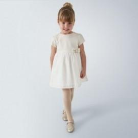 Šaty pro dívky Mayoral 4964-59 krémové barvy