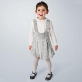 Sada s sukní se šlemi pro dívky Mayoral 4991-10 šedé barvy