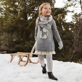 Dívčí pletené šaty Mayoral 4966-26 šedé barvy