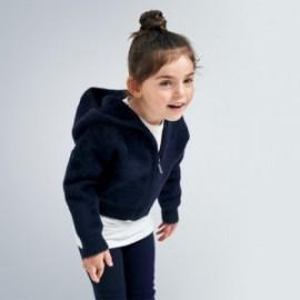 Mikina s kapucí holčičí Mayoral 4354-90 námořnická modrá