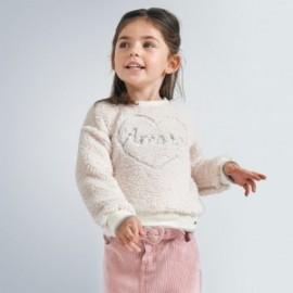 Dívčí kožešinová mikina Mayoral 4402-21 béžová barva