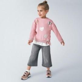 Dívky culotte kalhoty Mayoral 4548-29 šedá barva