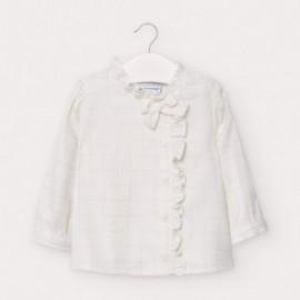 Elegantní halenka pro dívky Mayoral 2435-79 bílé barvy