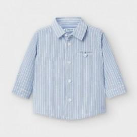 Pruhované tričko chlapecký Mayoral 2128-96 modrá barva