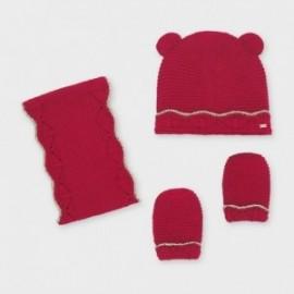 Zimní sada dívčí Mayoral 10843-10 červená barva