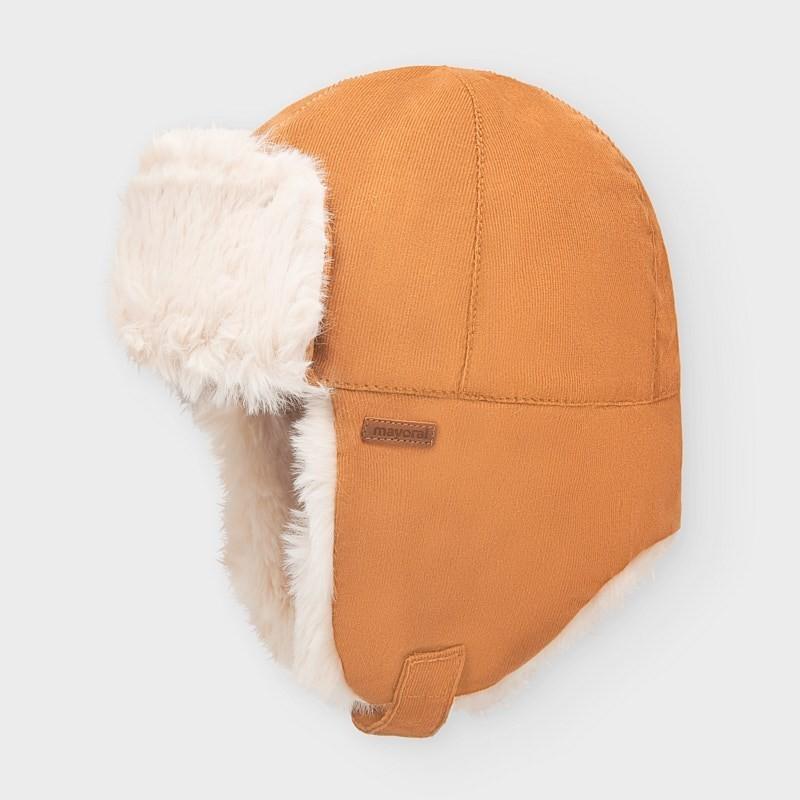 Chlapecká zimní čepice Mayoral 10847-14 hnědá