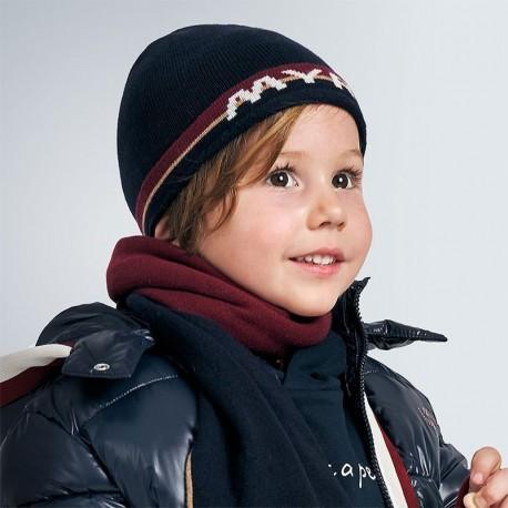 Chlapecká zimní čepice Mayoral 10902-33 námořnická modrá barva