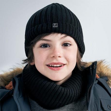 Chlapecká zimní čepice Mayoral 10901-58 černá barva