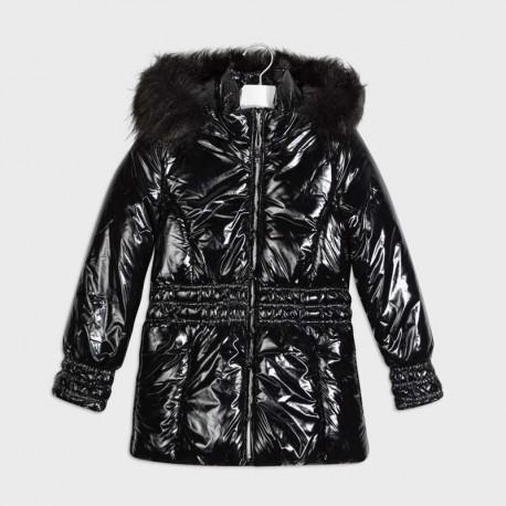 Metalizovaná dívčí bunda Mayoral 7416-88 Černá
