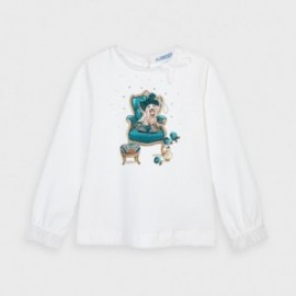 Dívčí tričko s dlouhým rukávem Mayoral 4061-64 Tyrkysový