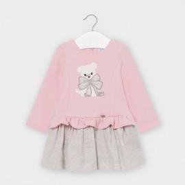 Dívčí kombinované šaty Mayoral 2955-33 Růžový