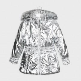 Metalizovaná dívčí bunda Mayoral 7416-87 stříbrný