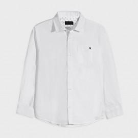 Chlapec s dlouhým rukávem košile Mayoral 882-28 Bílý
