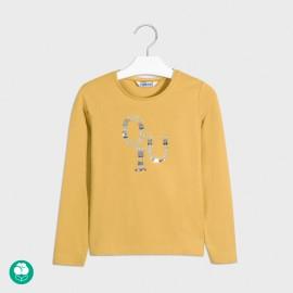 511/5000 Tričko pro dívky s dlouhým rukávem Mayoral 830-71 žluté