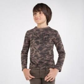 Tričko kamufláž chlapecký Mayoral 7046-76 Hnědý