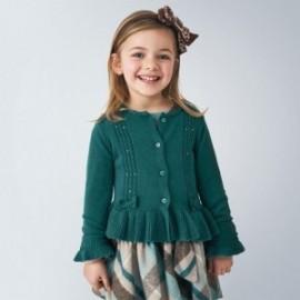 Dívčí svetr s volánkem Mayoral 4350-18 Zelená