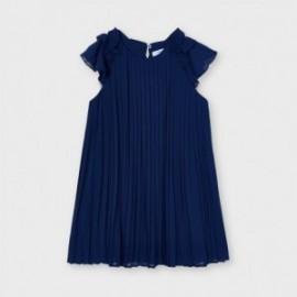 Dívčí skládané šaty Mayoral 3911-70 Námořnická modrá