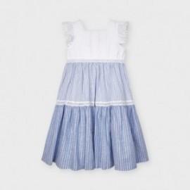 Dívčí dlouhé pruhované šaty Mayoral 3935-27 Modré