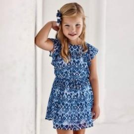 Šaty s potiskem holčičí Mayoral 3937-54 Modrá