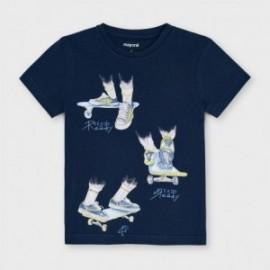 Chlapecké tričko s krátkým rukávem Mayoral 3043-70 granát