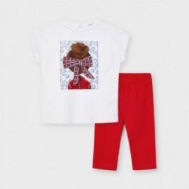 Sada triček a legín pro dívky Mayoral 3735-58 Červená