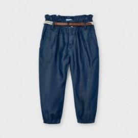 Volné kalhoty s opaskem holčičí Mayoral 3552-48 námořnická modrá