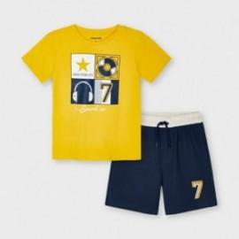 Sada tričko a šortky chlapecký Mayoral 3646-40 Žlutá/tmavě modrá
