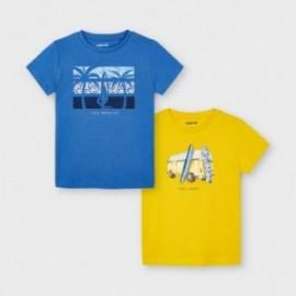 Sada triček pro chlapce Mayoral 3033-70 modrá / žlutá