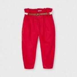 Volné kalhoty s opaskem holčičí Mayoral 3552-49 Červené