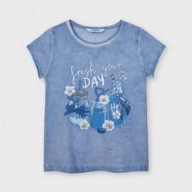Tričko s potiskem pro dívky Mayoral 3015-70 Lavender
