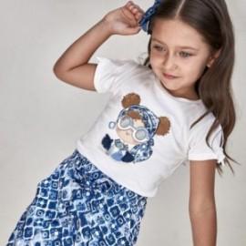 Tričko s potiskem pro dívky Mayoral 3016-76 bílé