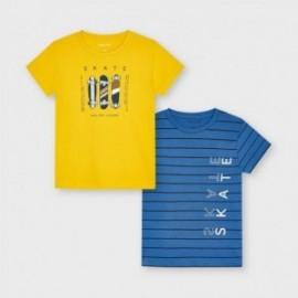 Sada krátkých rukávů pro chlapce Mayoral 3045-81 žlutá / modrá
