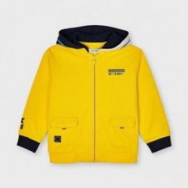Mikina s kapucí pro chlapce Mayoral 3414-38 Žlutá