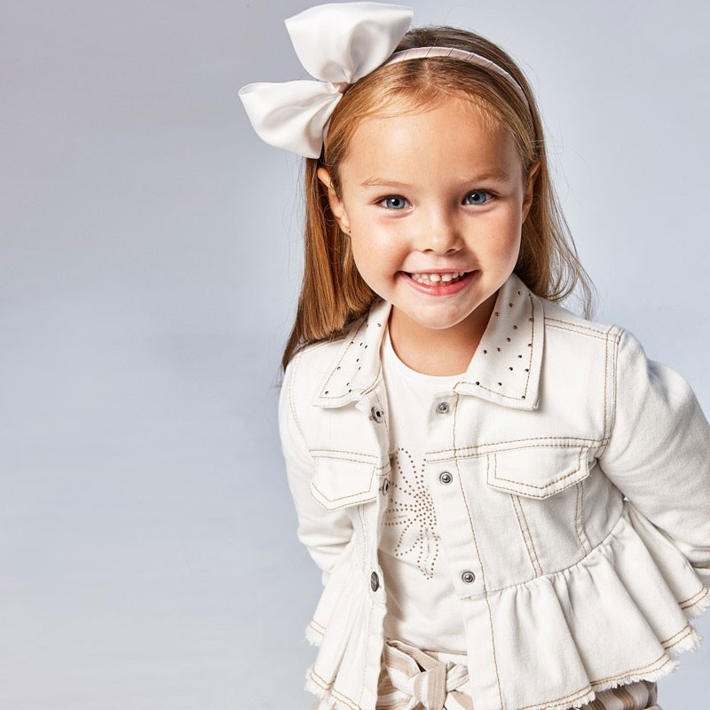 Tričko s krátkým rukávem pro dívky Mayoral 174-10 bílá